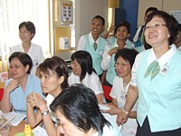 The AH nurses were lively, enthusiastic and keen learners